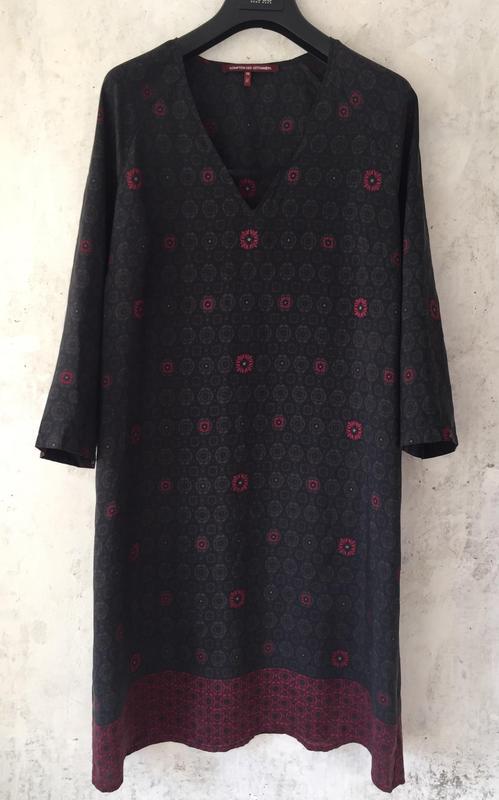 Платье, натуральный шёлк, свободный крой, бохо, франция, бренд