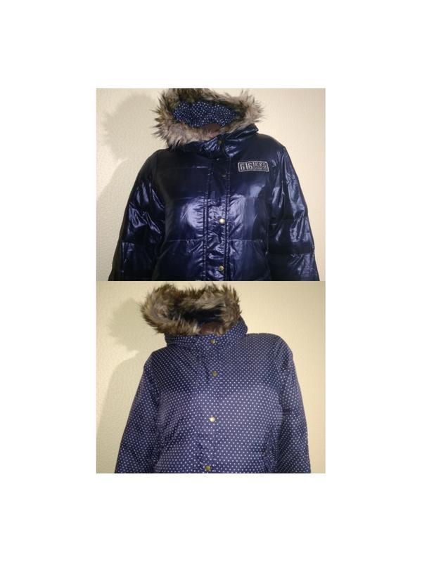 Ikks куртка двусторонняя демисезон /зима 14 лет 156-164 см