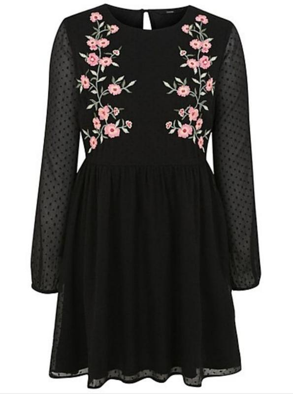 Платье с вышивкой george размер 14