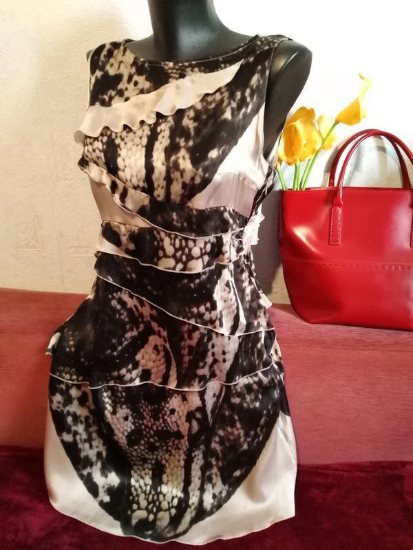 Натуральный шелк, бежево-коричневое платье 👗 платье с драпировкой