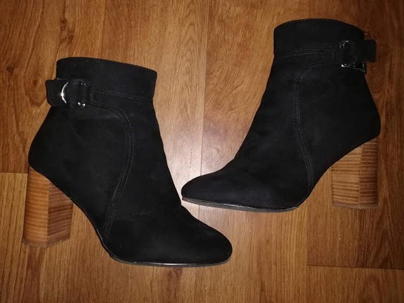 🎀🎀🎀красивые женские черные демисезонные ботинки, ботильоны, по...