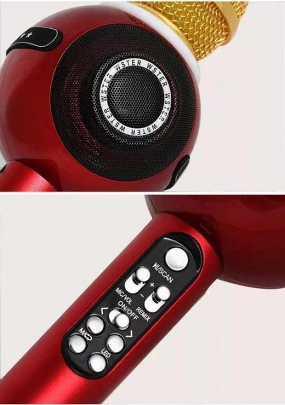 Беспроводной микрофон караоке WS 878 - Фото 5