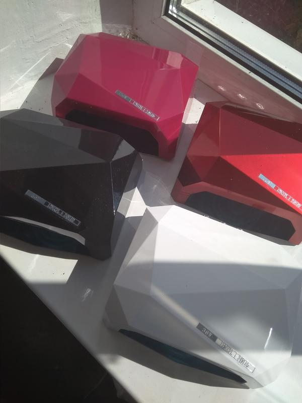 Уф-лампа для маникюра, сушки ногтей, 36 Вт, сенсорная, гибридная - Фото 2