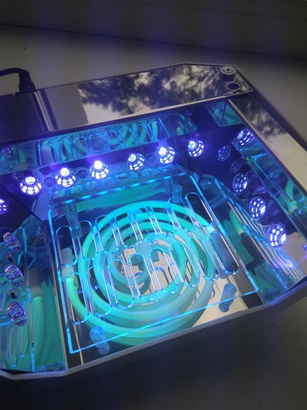 Уф-лампа для маникюра, сушки ногтей, 36 Вт, сенсорная, гибридная - Фото 3