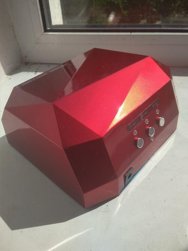 Уф-лампа для маникюра, сушки ногтей, 36 Вт, сенсорная, гибридная - Фото 5