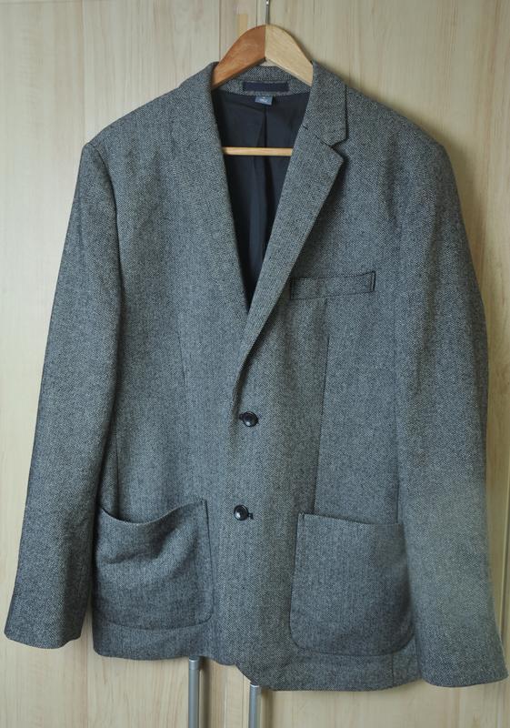 Стильный  полу шерстяной пиджак old nawy