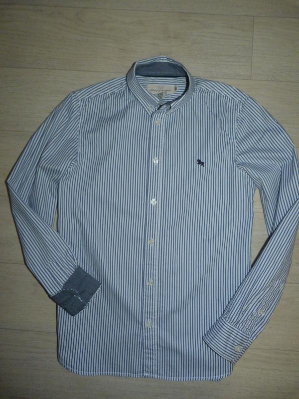 Рубашка в полоску h&m 12-13 лет