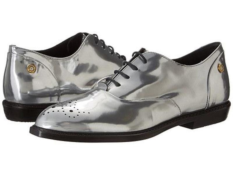 Лофери туфли diesel срібні на шнуровці