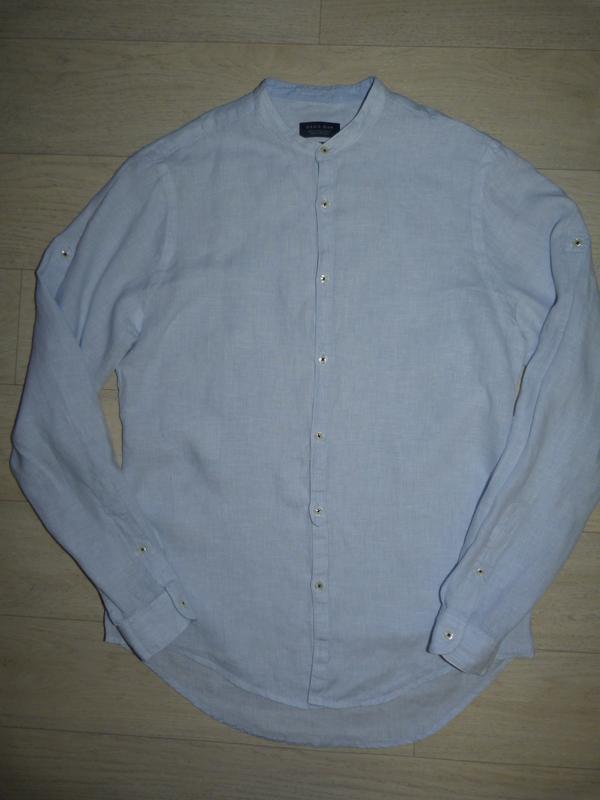 Котоново-льняная рубашка zara man размер m