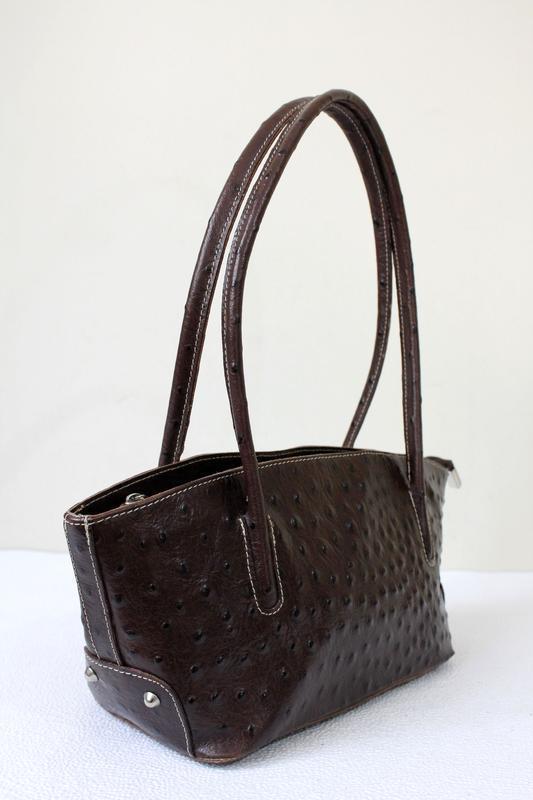 Кожаная сумка-багет, genuine leather, италия