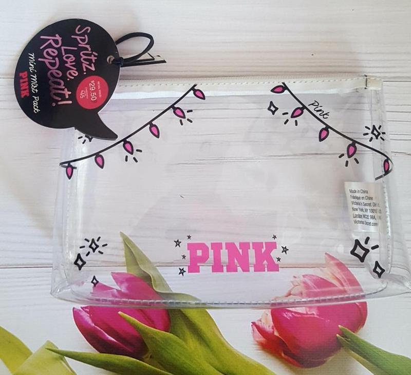 Прозрачная косметичка victoria's secret pink 🍁