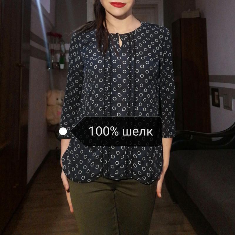Шелковая блуза talbots 100% шелк принт