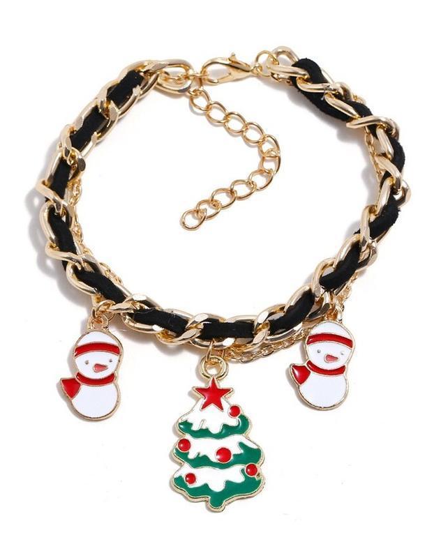 🏵потрясающий новогодний браслет цепь с подвесками - подарок ар...