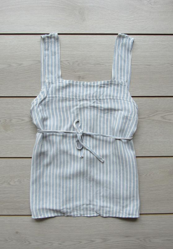 Акция до нового года! №95 красивая майка блуза в полоску на за...