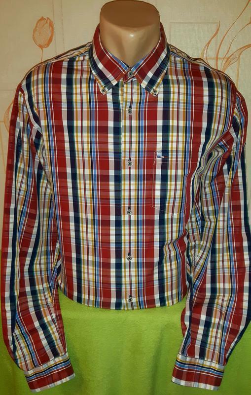 Стильная рубашка в контрастну полоску, pierre cardin, original