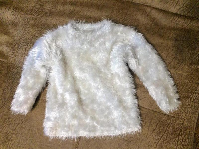 Теплый свитер травка на 1-2 годика