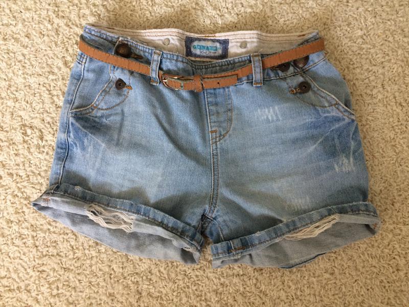 Стильные шорты джинс на пуговицах xs-s