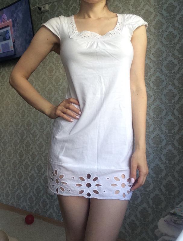 Хлопковое платье туника
