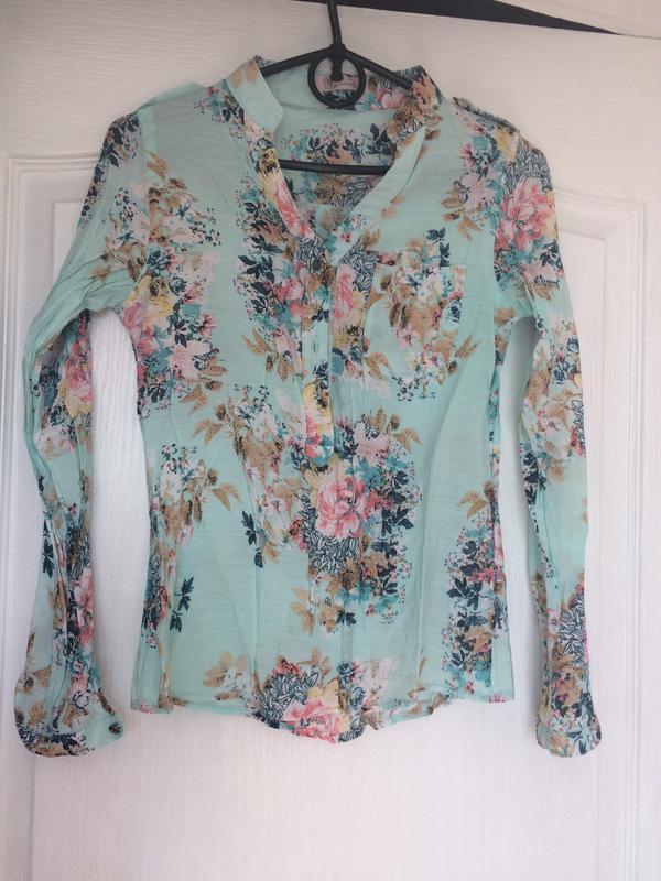 Хлопковая рубашка блуза xxs-xs
