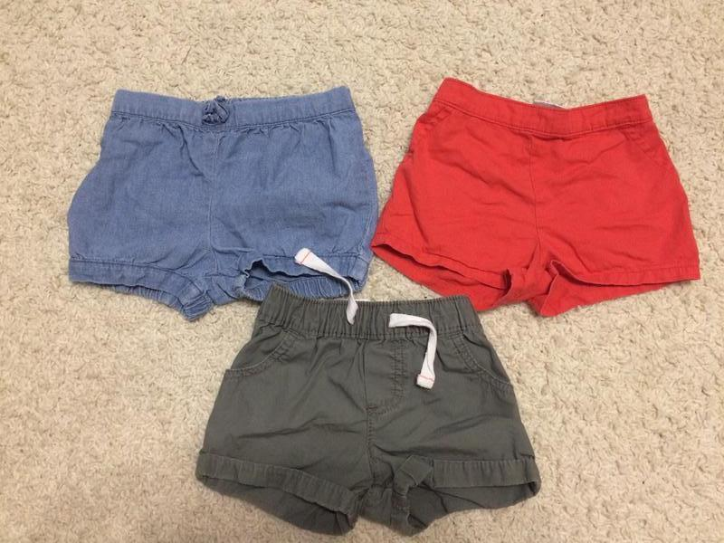 Набір стильних якісних шортиків на дівчинку 12-18 міс