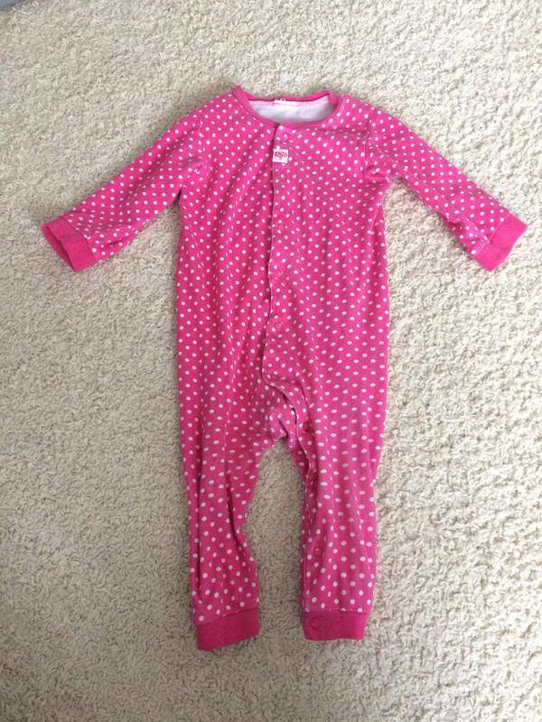 Хлопковая пижамка человечек 12-18мес