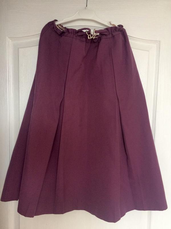 Теплая винтажная юбка 45% шерсть