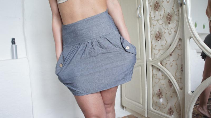 Легкая юбка высокая посадка