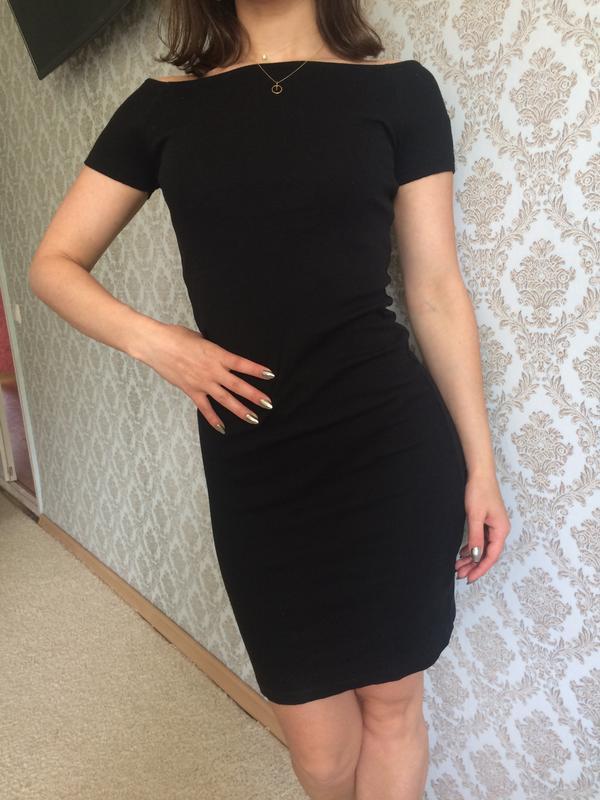 Базовое платье в рубчик xs-s