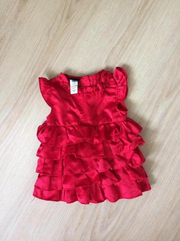 Яркое платье 9-12 мес