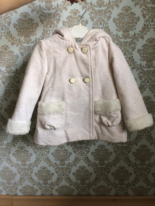 Пальто зайчик с ушками 86-92