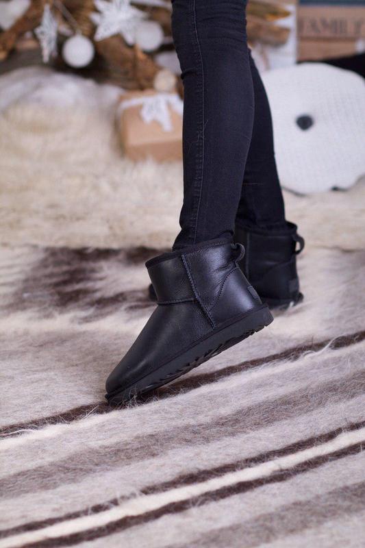Ugg classic mini 2! женские кожаные зимние угги/ сапоги/ ботин...