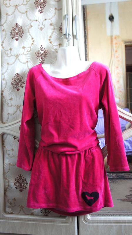 Теплое домашнее платье пижама