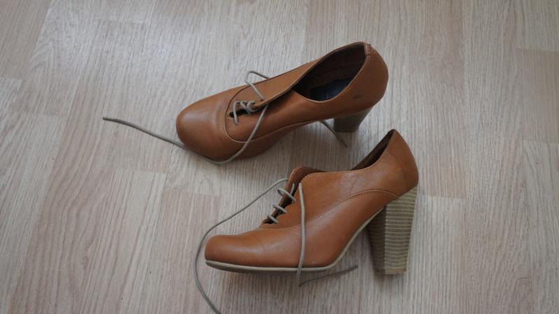 Туфли ботильены из натуральной кожи 35-36 размер