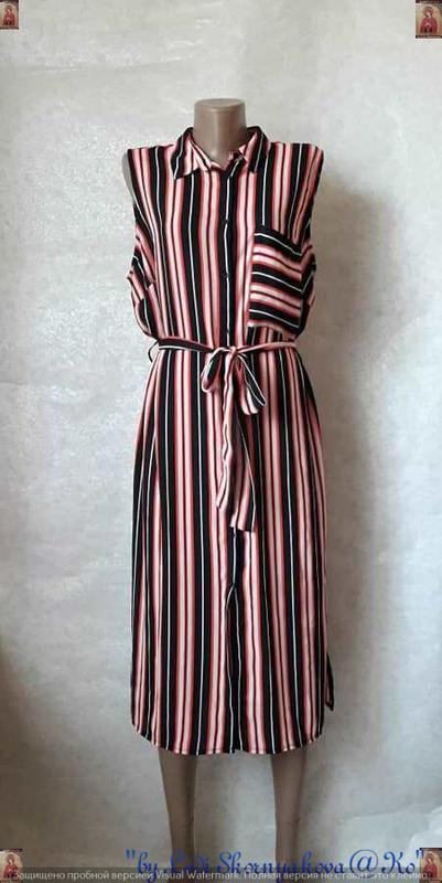 Фирменное papaya шифоновое платье-рубашка/платье миди в яркие ...