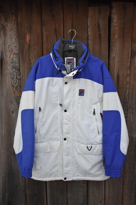 Fila оригинал винтажная куртка парка пуховик теплая на зиму дл...