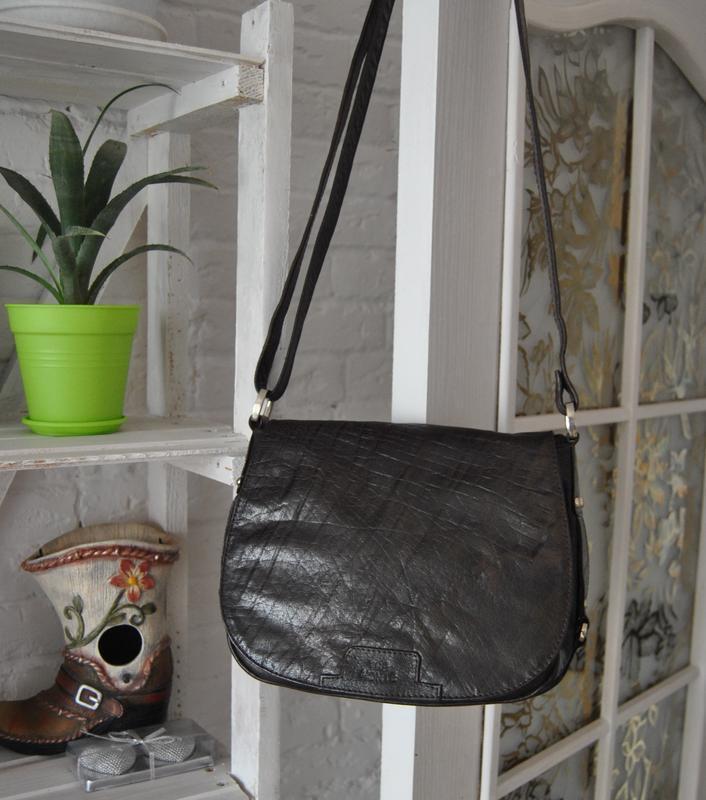 Кожаная сумка кроссбоди the monte /шкіряна сумка