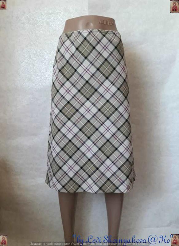Новая красивая нарядная юбка-миди в оригинальную клетку, разме...