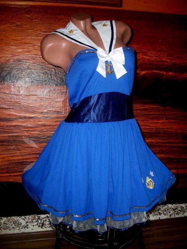 Секси-платье костюм морячка маскарад ролевые игры косплей - Фото 2
