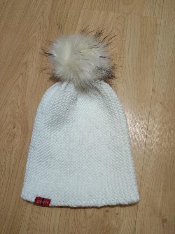 Популярная шапочка бини, шапка бини с бумбоном из эко-меха