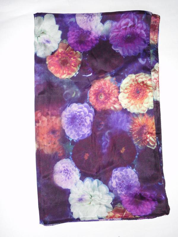Шелковый шарф шелк 100%      180х50см