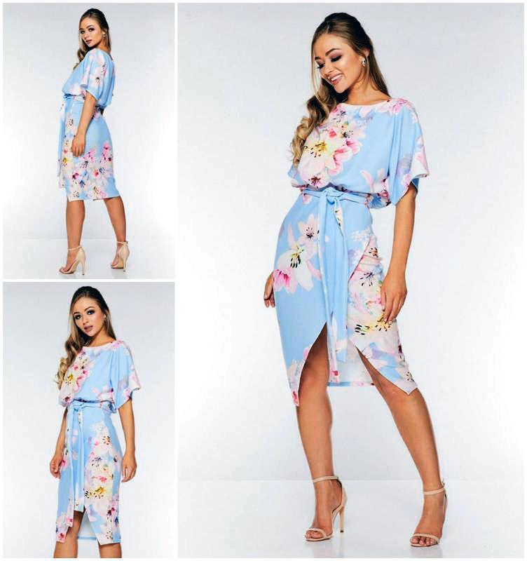 Роскошное платье миди в цветочный принт
