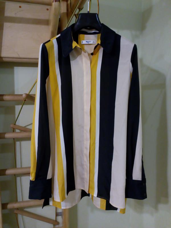 Блуза mango свободного кроя в полоску