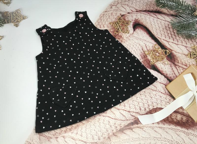 Платье сердечки теплое
