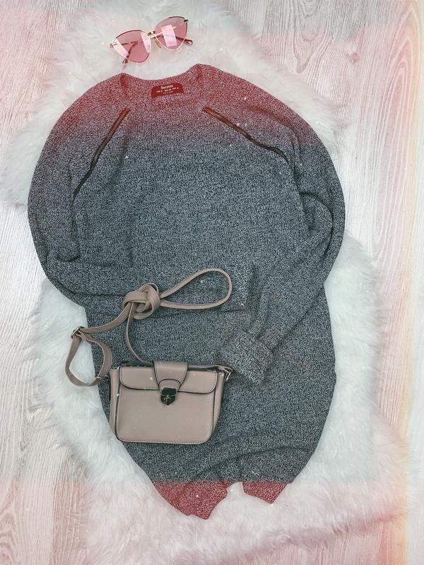 🌿 вязаный свитер туника bershka • платье оверсайз с замочками