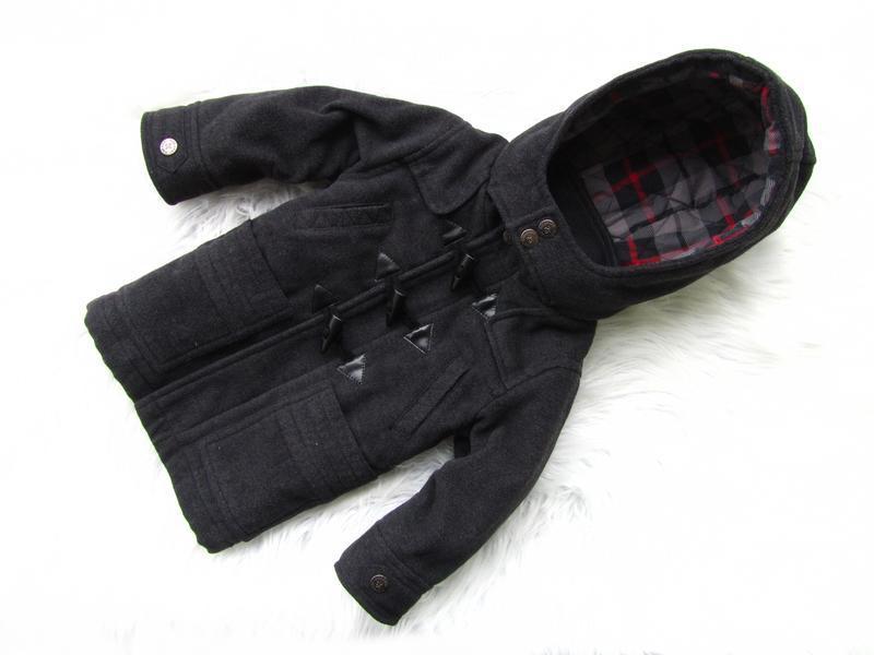 Стильная демисезонная куртка пальто с капюшоном kidkanai