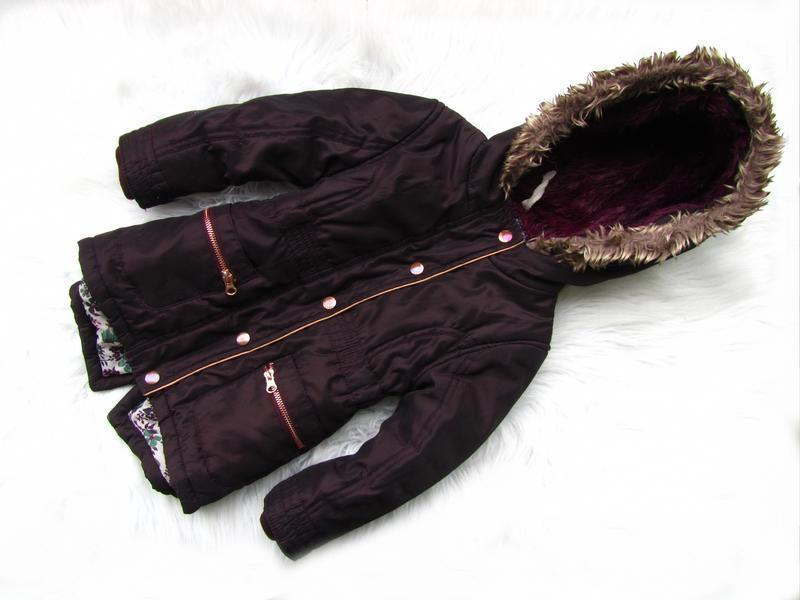 Стильная демисезонная куртка парка с капюшоном f&f