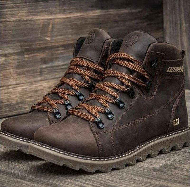 Мужские кожаные зимние ботинки - Фото 4