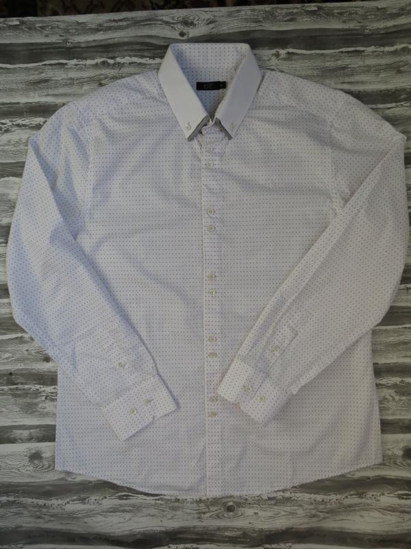 Белая рубашка с узором размер xl