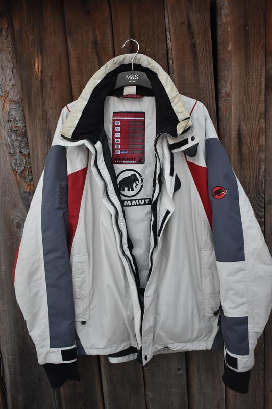 Mammut snow sports оригинал мужская лыжная куртка красная бела...