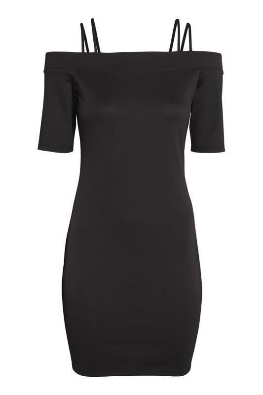 Маленькое черное платье мини на бретелях/сукня міні на бретелях